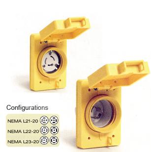 woodhead sales 20 amp watertite safeway receptacles 125v rh woodheadsales com NEMA L6-15 NEMA L6-15